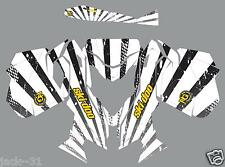 RACING SKI DOO REV XM SUMMIT SNOWMOBILE SLED GRAPHIC KIT WRAP WHITE 2013 2015