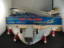 Nomura Japan Jet plane Avion  tôle Lufthansa moteur à piles 35 cm en boite RARE