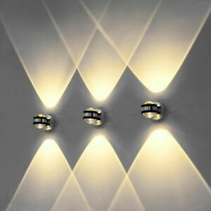 2W LED Wall Lamp Crystal Light Different Color Aisle Bedroom LED Light