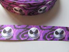 Purple Jack Squelette Ruban Grosgrain 2,2 cm X 1 Mètre Couture / Halloween / gâteau