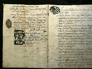 ANTIQUE Original MANUSCRIPT ITALY-MODENA-1747- Handwritten/Watermarkes #814