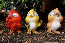 "3 SOLAR BIRDS LIGHT 5"".X 2.5"" DECOR Garden Ornament Figurines Path Light Resin"