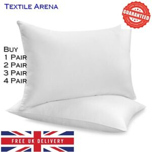 FOUR PACK DELUXE SUPER BOUNCE BACK PILLOWS - 4 BEDDING SET, 1 - 2 - 3 - 4 PAIRS