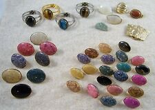39 ~ NECKLACE / SCARF ENHANCERS / SLIDES / CLIPS ~ WITH CABOCHONS