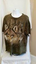 Seventh Avenue Men's Wolf XXL Green T Shirt