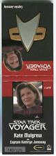 The Quotable Star Trek Voyager Kate Mulgrew 1 of 9 Communicator Pin Relic Card