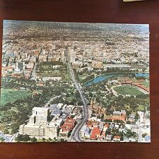 Adelaide Aerial View Vintage Jigsaw with Landmarks Overlay Complete