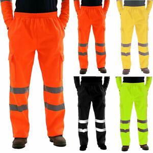 Haute Visibilité Jogging Pantalon Sécurité Vêtement de Travail Bas for Hommes