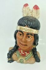 Native American Indian Warrior bust Universal Statuary Corp Chicago 1974 605