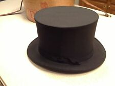 Mens Vintage Stove Pipe Top Hat Handcrafted Carroll JOhn JOhn Cavanagh Black Box