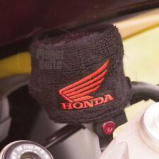 Large Black Honda Wing Brake & Clutch Reservoir Sock Cover Motorcycle Dirt Bike
