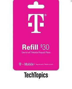 T-Mobile Prepaid $30 Refill Card (Direct) READ DESCRIPTION