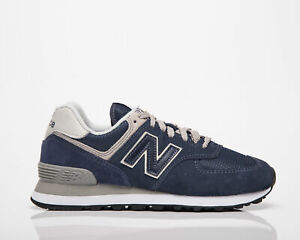 New Balance 574 Women's Core Navy White Lifestyle Athletic Shoes Casual Sneakers