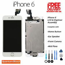 WHITE Retina LCD & Digitiser Touch Screen Full Assembly with Parts FOR iPhone 6