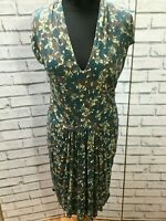 Gorgeous Nicole Farhi Green Floral Print Dress Size 12