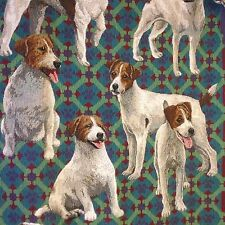 "Goodwin Weavers Jack Russell Terrier Dog Triple Woven Throw ~62"" x ~44"" Pups"