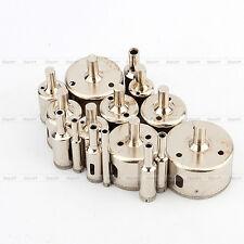 Nuovo 16x FRESA A TAZZA DIAMANTATA Per Vetro Granito Marmo 6-50mm