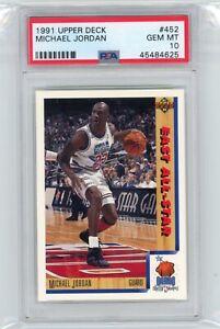 1991 Upper Deck #69 MICHAEL JORDAN Bulls HOF PSA 10 Graded All-Star