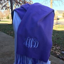 Monogrammed Cashmere Like Feel Scarf Personalized Gift Houndstooth Greek Letters