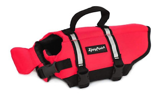 Zippy Paws Dog Life Jacket, Ripstop Life Vest, XS Red