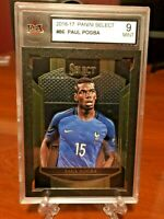 2016-17 Panini Select Soccer Paul Pogba Base #86 France - KSA 9 Mint