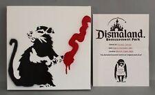 RARE Original BANKSY Graffiti Spray-Paint Art RAT Dismaland Souvenir Painting