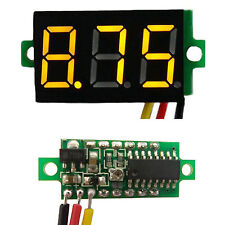 "Yellow 0.28"" DC 0-100V 3 Wire LED Display Digital Voltage Voltmeter Panel"