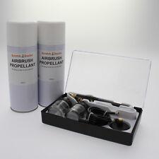 Airbrush & Propellant Gas Can Kit . Paint Art Air Brush Spray Gun Cup Hose Set