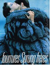 PUBLICITE ADVERTISING 064  1988  SPRUNG  FRERES  boutique fiourrure