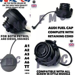 AUDI A3 FUEL CAP A2 A4 A6 A8  Petrol & Diesel TFSI TDI 1998 - 2012 AUDI Fuel Cap