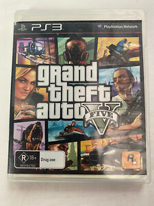 Grand Theft Auto 5 GTA V PS3 PlayStation 3 PAL Complete - Free Tracked Shipping⛴