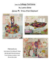 Quilt Pattern ~ TEENY TINY COLLAGE COLLECTION GROUP #1 ~ Laura Heine Fiberworks