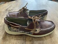 Sperry Women's Bluefish Leather Loafer Boat Shoes 9353632 Plaid Size 10