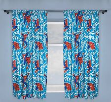 NEW SPIDERMAN 'POPART' DESIGN PAIR OF CURTAINS - 66 x 54 Inch Children Boys Bed