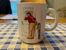 """Norman Rockwell 1987 Vintage Mug ~ """"Closed for Business"""""""