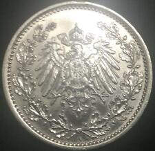 German Half Mark SILVER Coin  World War 1 RARE Authentic Coin Great Investment