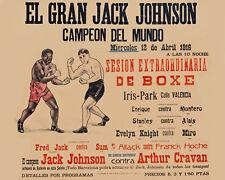 Jack Johnson vs Arthur Cravan Spanich Art Fight Poster - 8x10 Color Photo