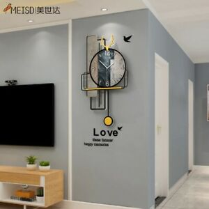 MEISD Design Wall Clock Creative Quartz Retro Watch Silent Horologe Wall Art