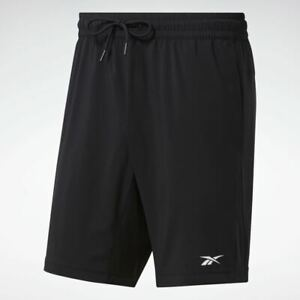 Reebok Mens Workout Ready Woven Shorts Black (Medium)