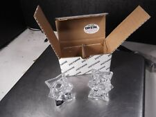 PAIR NEW MICHAEL C. FINA 24% LEAD CRYSTAL CANDLE STICK HOLDERS