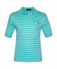 POLO RALPH LAUREN MENS HAMMOND BLUE SOFT TOUCH PIMA GOLF SHIRT 1XB [3784-1]