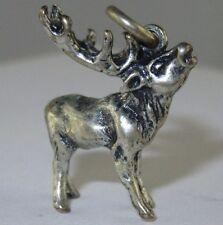 �� Good Condition Maker ´S Mark C382 �� Elk Pendant Sterling Silver Moose