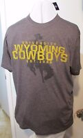 Cowboys T-Shirt Wyoming University 38' Chest Unisex USA Screen print NCAA  #z