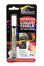 RAINBOW CHALK *INTERIOR* LIQUID CHALK PEN 5MM CHISEL TIP EASY CLEAN LIQUID CHALK