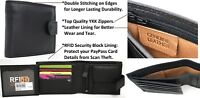 RFID Security Lined Leather Wallet. Quality Full Grain Cow Hide Leather. 11020.