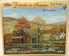 Friends In Autumn 1000 Pc. Jigsaw Puzzle Extra-Large Pieces Fred Swan Barn Farm