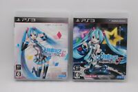 PS3 Hatsune Miku Project DIVA F & F 2nd 2Games Set Japan PlayStation 3 Vocaloid