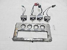 1969 Cougar Deluxe Center Dash Vent and Light Switch Panel Bezel with Switches