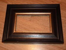"""8"""" x 4"""", black/brown  photo frame with gold sight edge"""