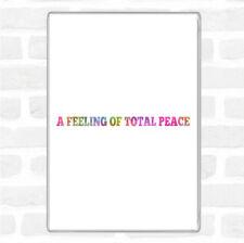 Total de la paix arc-en-Citation jumbo aimant de réfrigérateur